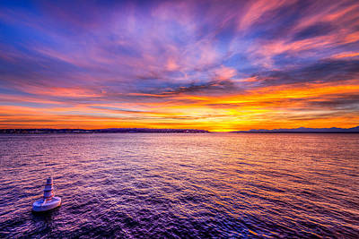 Photograph - Purple Haze Sunset by Spencer McDonald