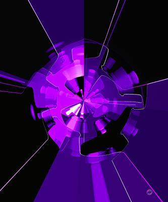 Wall Art - Digital Art - Purple Haze Wheels by Digital Painting