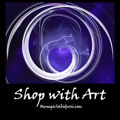 Digital Art - Purple Heart - Shop With Art by Menega Sabidussi