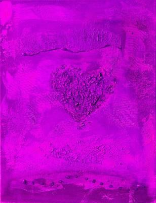Digital Art - Purple Heart - Variation by Alexandra Schumann