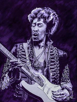 Jimmy Hendrix Painting - Purple Hendrix by Jim Brown