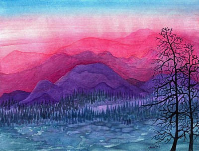 Purple Hills Art Print