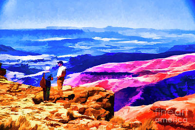 Digital Art - Purple Hills by Rick Bragan