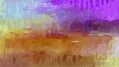 Mixed Media - Purple Horizon  by Rafael Salazar
