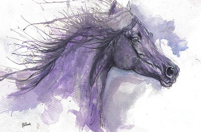 Painting - Purple Horse 2017 07 26 by Angel Tarantella