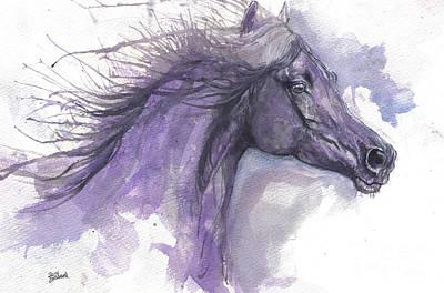 Painting - Purple Horse 2017 07 26 by Angel Ciesniarska