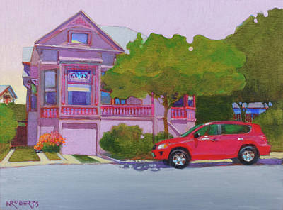 Painting - Purple House, Alameda by Nancy Roberts