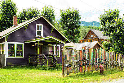 Photograph - Purple House And Ski Fence by Tom Cochran