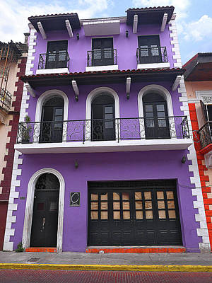 Photograph - Purple House Old Town by Herb Paynter
