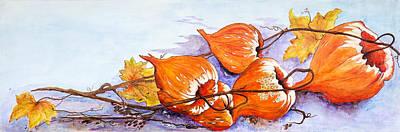 Tendrils Painting - Purple Hue by Dawn Broom