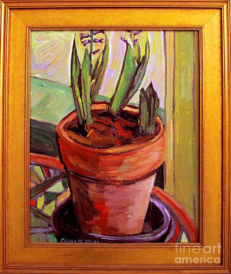 Hartley Painting - Purple Hyacinths Frame Incl by Charlie Spear