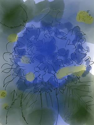 Purple Hydrangea Art Print by Carl Griffasi