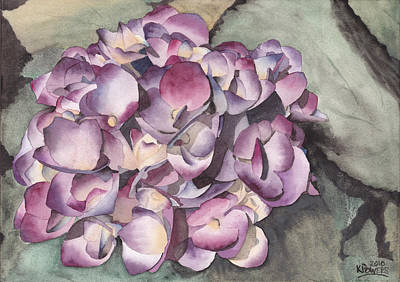 Painting - Purple Hydrangea by Ken Powers