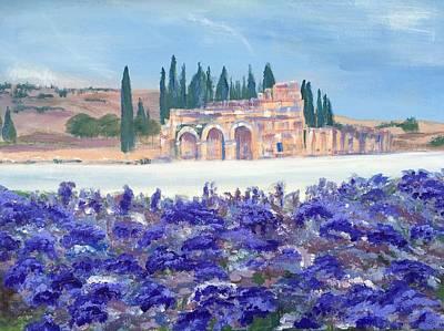 Painting - Purple Hydrangeas At Pamukkale In Turkey by Susan Brooks