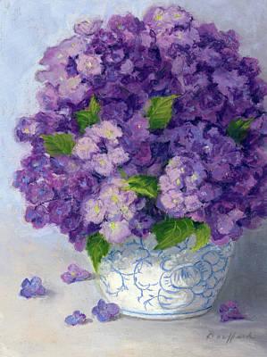 Pastel - Purple Hydrangeas by Vikki Bouffard