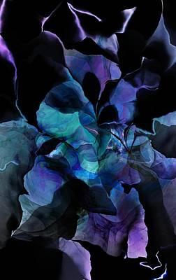 Digital Art - Purple In The Night by David Lane