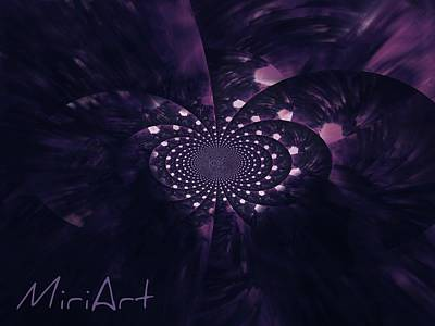 Art Print featuring the photograph Purple Intrigue by Miriam Shaw