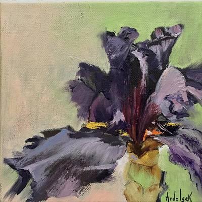 Painting - Purple Iris by Barbara Andolsek