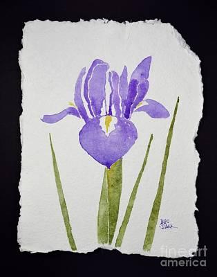 Painting - Purple Iris by Barrie Stark