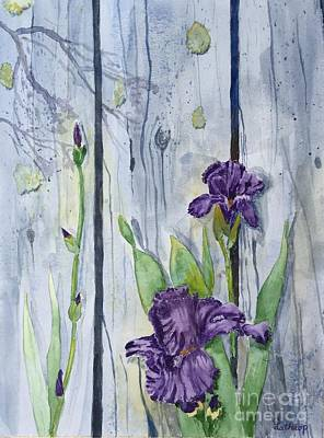 Painting - Purple Iris by Christine Lathrop