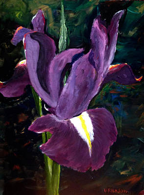 Painting - Purple Iris by Heidi Patricio-Nadon