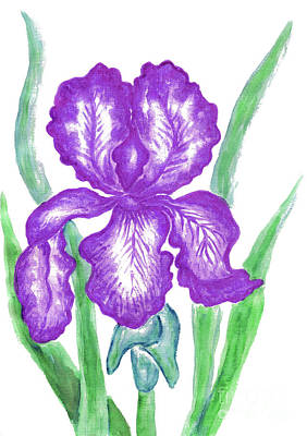 Painting - Purple Iris by Irina Afonskaya
