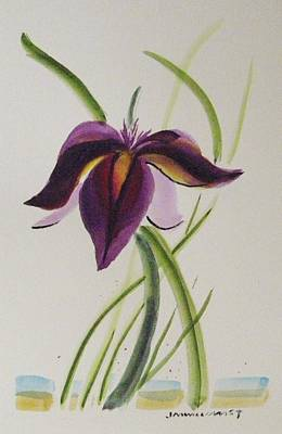 Painting - Purple Iris by John Williams