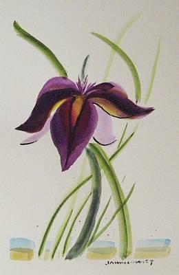Painting - Purple Iris by John Williams