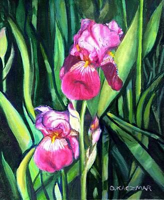 Purple Iris Art Print by Olga Kaczmar