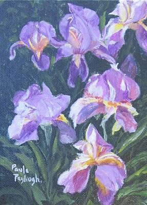 Painting - Purple Iris by Paula Pagliughi