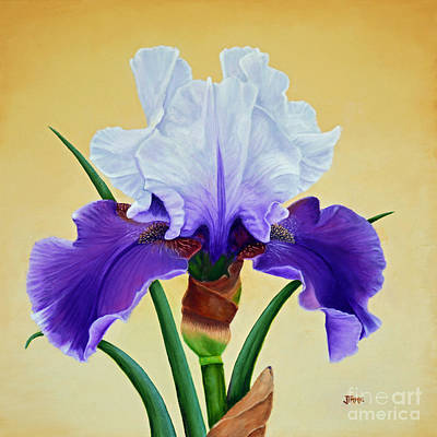 Painting - Purple Iris With White Tops by Jimmie Bartlett