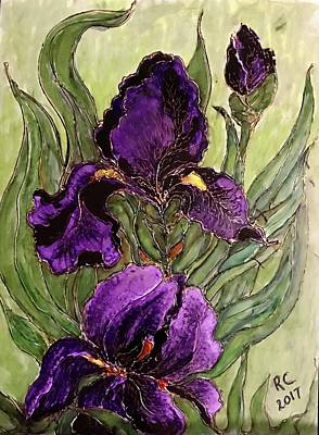 Painting - Purple Irises by Rae Chichilnitsky