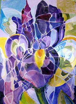 Painting - Purple Irises by Therese AbouNader
