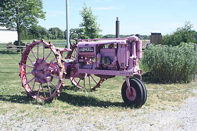 Photograph - Purple Irrigation Tractor by John Telfer