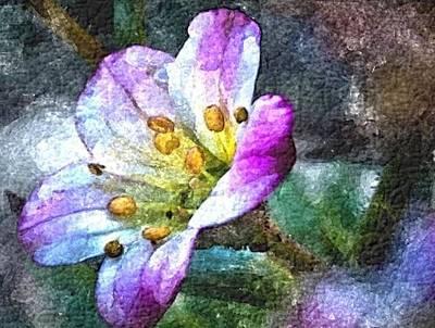 Digital Art - Purple Joy by Jacqueline Schreiber