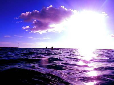 Digital Art - Purple Kaimana Ocean by Erika Swartzkopf