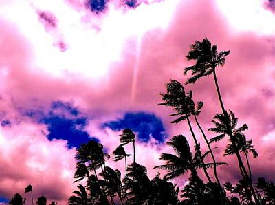 Digital Art - Purple Kaimana Sky by Erika Swartzkopf