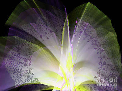 Digital Digital Art - Purple Lace by Melissa Messick