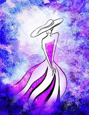 Painting - Purple Lady Charm by Irina Sztukowski