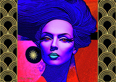 Digital Art - Purple Lady - Deco by Chuck Staley