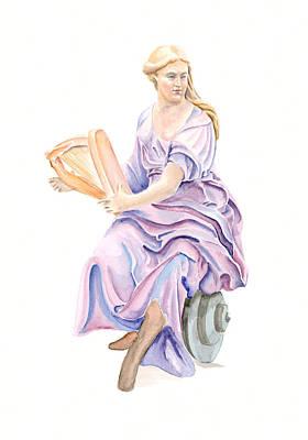 Purple Lady Art Print