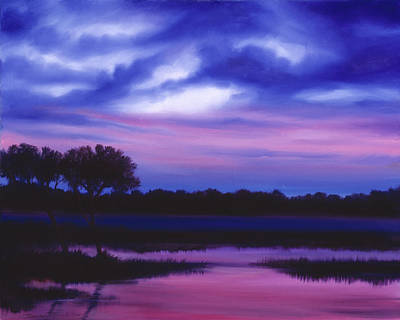 Purple Landscape Or Jean's Clearing Art Print by James Christopher Hill