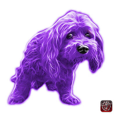 Painting - Purple Lhasa Apso Pop Art - 5331 - Wb by James Ahn