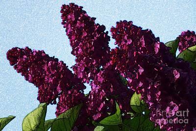 Purple Lilac 3 Art Print by Jean Bernard Roussilhe
