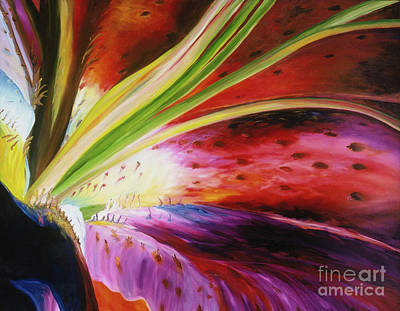 Painting - Purple Lily by Donna Hall
