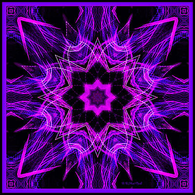 Art Print featuring the photograph Purple Lines by Barbara MacPhail