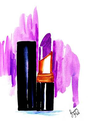 For Salons Painting - Purple Lipstick by Sweeping Girl