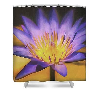 Photograph - Purple Lotus Blossom by Teresa Wilson