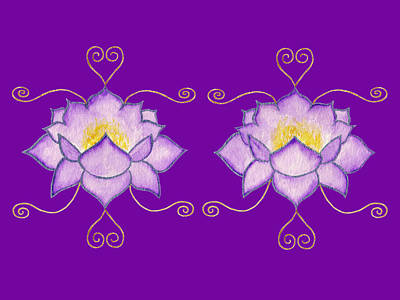 Mixed Media - Purple Lotus by Elizabeth Lock