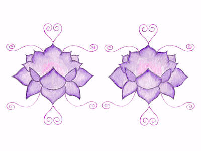Mixed Media - Purple Lotus II by Elizabeth Lock